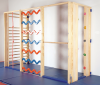 Climbing frame foldable 5-sections